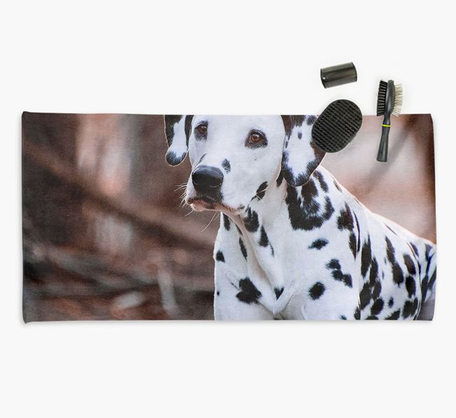 Personalised Photo Upload Dog Towel with your Dalmatian