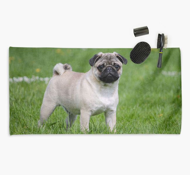 Personalised Photo Upload Dog Towel with your Pug