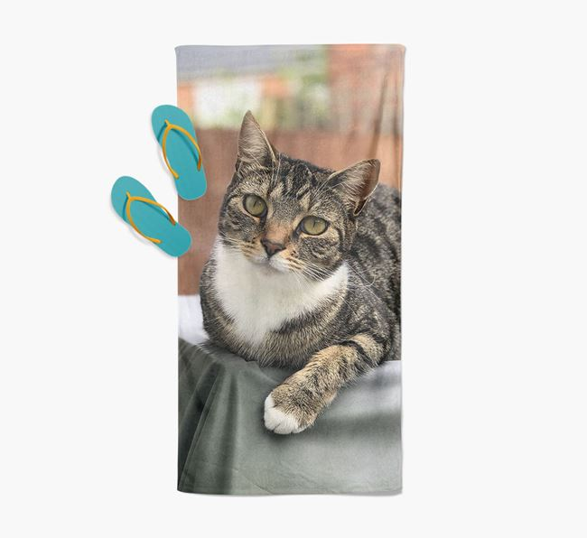 Photo Upload Beach Towel with your Ashera