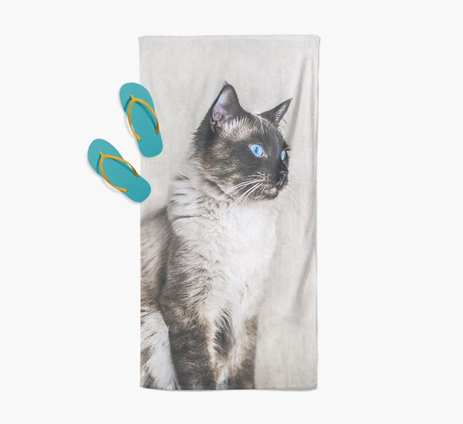 Photo Upload Beach Towel with your Balinese