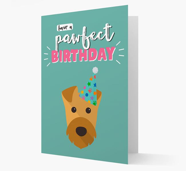 'Have A Pawfect Birthday' - Personalised Airedale Terrier Card