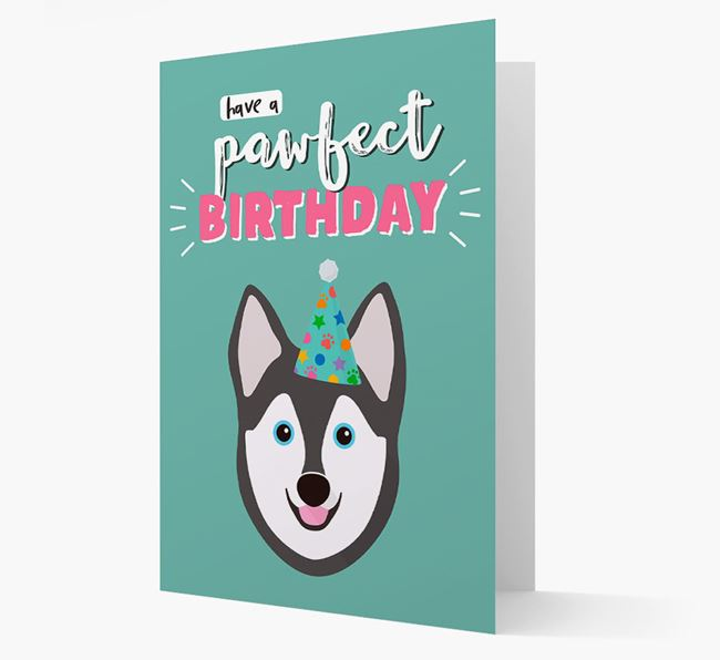 'Have A Pawfect Birthday' - Personalized Alaskan Klee Kai Card