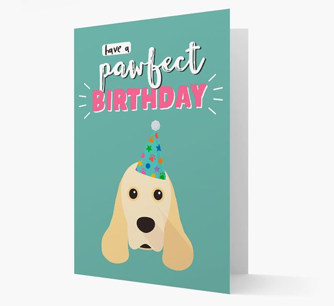 'Have A Pawfect Birthday' - Personalised American Cocker Spaniel Card