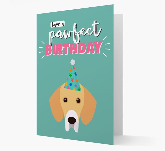 'Have A Pawfect Birthday' - Personalized Bassador Card