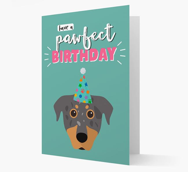 'Have A Pawfect Birthday' - Personalized Beauceron Card