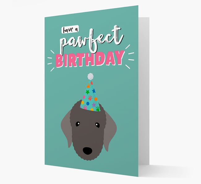 'Have A Pawfect Birthday' - Personalised Bedlington Terrier Card