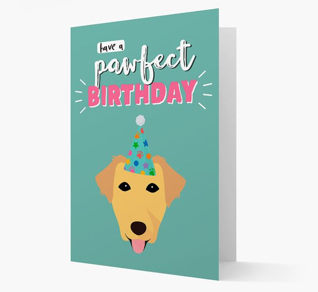'Have A Pawfect Birthday' - Personalized Borador Card
