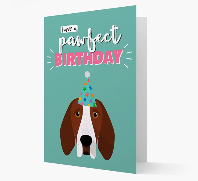 'Have A Pawfect Birthday' - Personalized Bracco Italiano Card