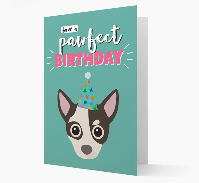 'Have A Pawfect Birthday' - Personalised Chihuahua Card