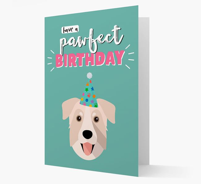 'Have A Pawfect Birthday' - Personalized Chinook Card