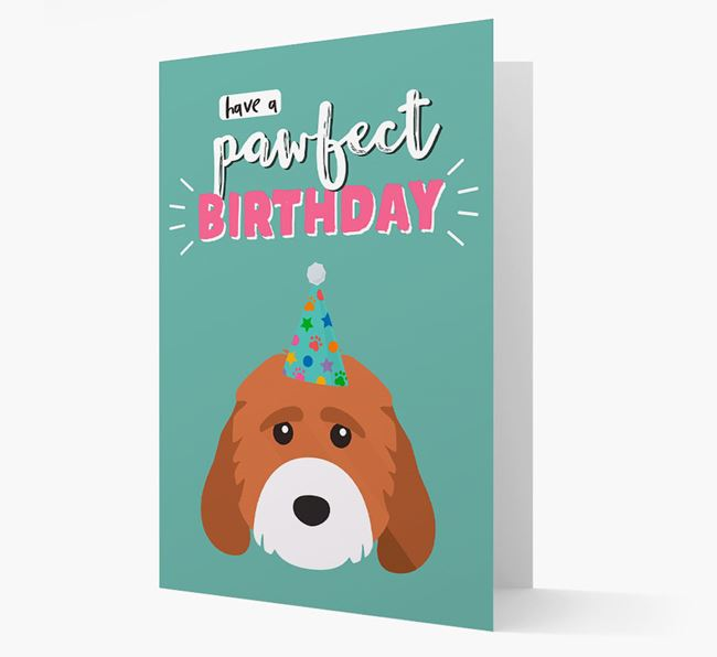 'Have A Pawfect Birthday' - Personalised Cockapoo Card