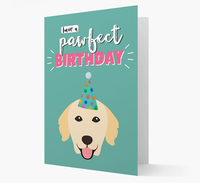 'Have A Pawfect Birthday' - Personalized Golden Retriever Card