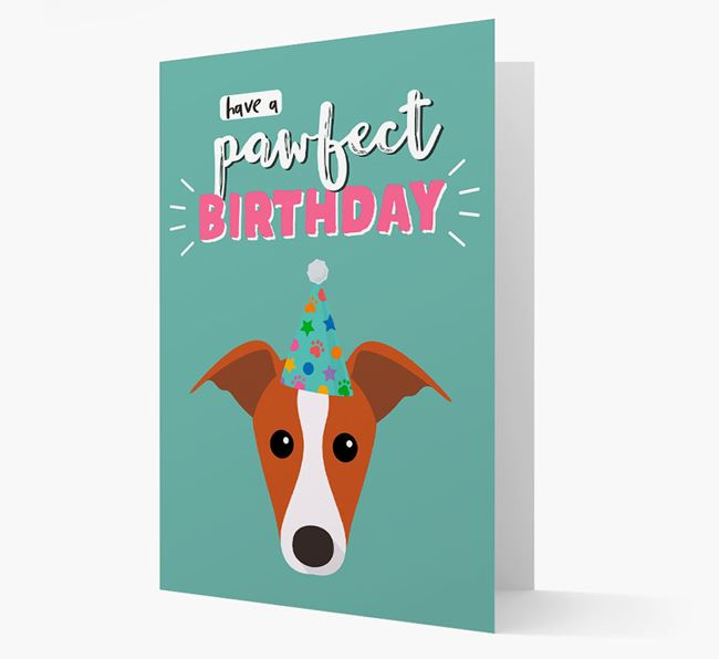 'Have A Pawfect Birthday' - Personalized Greyhound Card