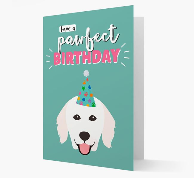 'Have A Pawfect Birthday' - Personalized Hungarian Kuvasz Card
