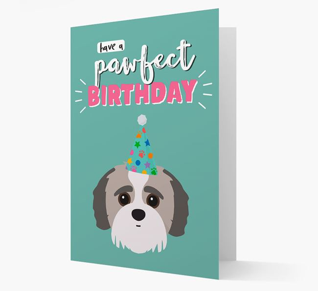 'Have A Pawfect Birthday' - Personalized Jack-A-Poo Card