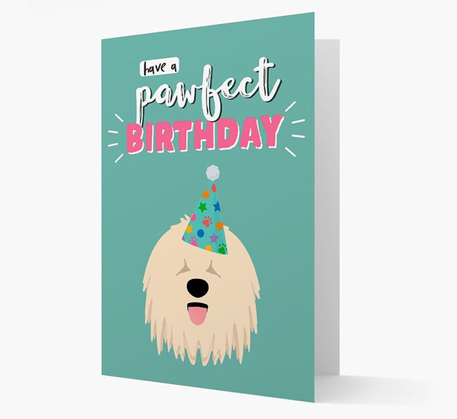 'Have A Pawfect Birthday' - Personalized Komondor Card
