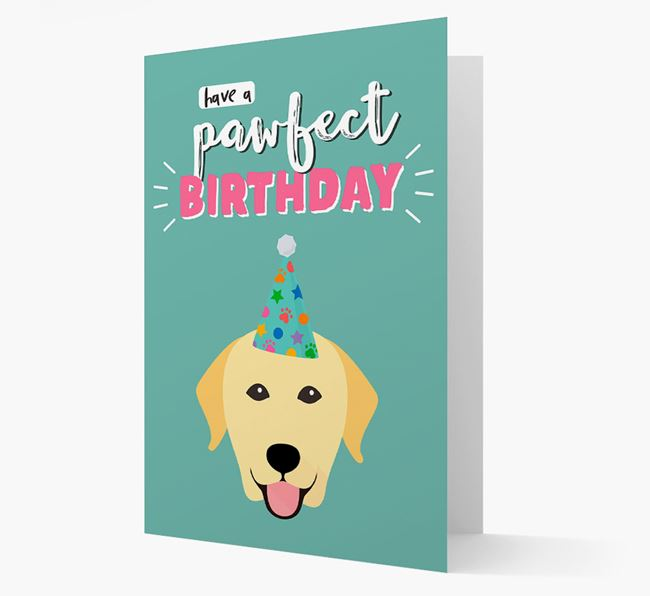 'Have A Pawfect Birthday' - Personalised Dog Card