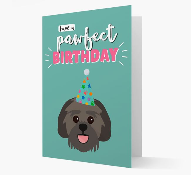 'Have A Pawfect Birthday' - Personalized Lachon Card