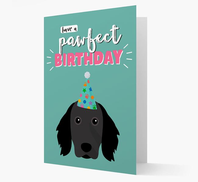'Have A Pawfect Birthday' - Personalized Large Munsterlander Card