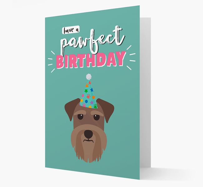 'Have A Pawfect Birthday' - Personalized Schnauzer Card