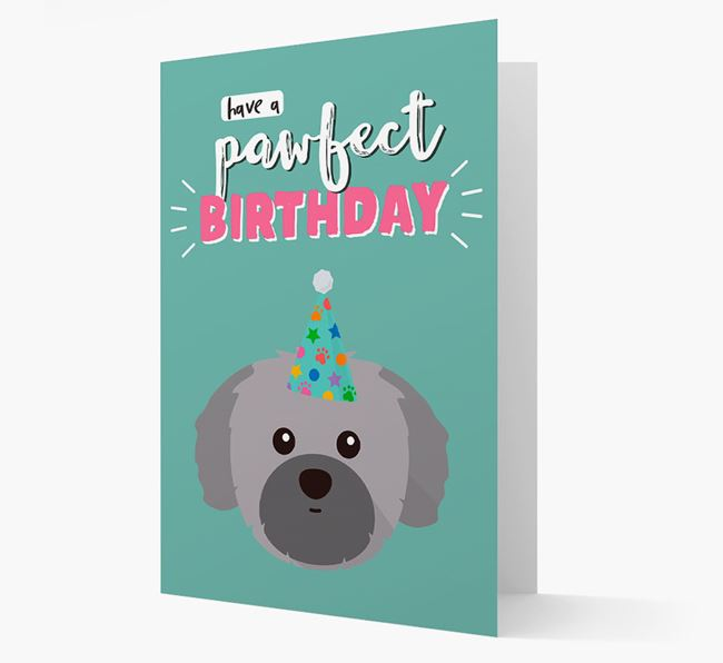 'Have A Pawfect Birthday' - Personalized Shih Tzu Card