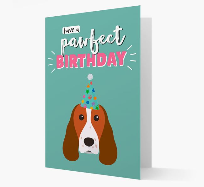 'Have A Pawfect Birthday' - Personalized Welsh Springer Spaniel Card