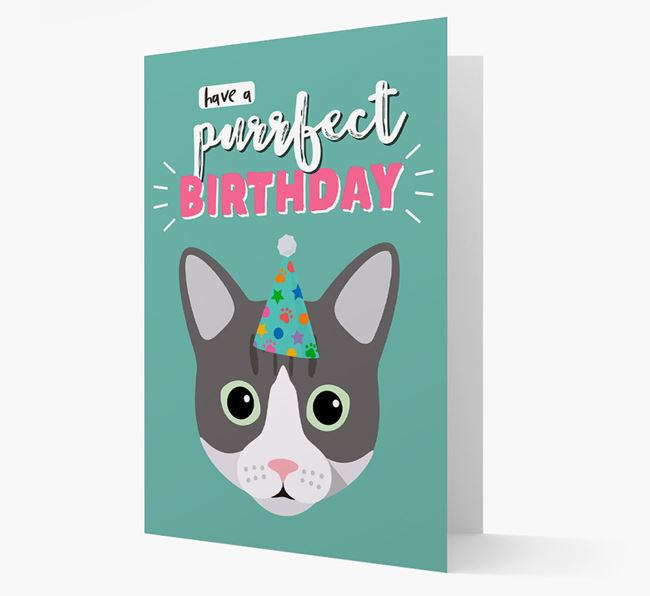 'Have a Purrfect Birthday' - Personalized Cat Card