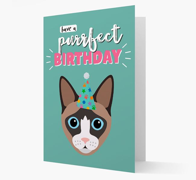 'Have a Purrfect Birthday' - Personalised Cat Card