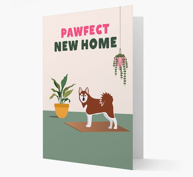 'Pawfect New Home' - Personalized Alaskan Klee Kai Card