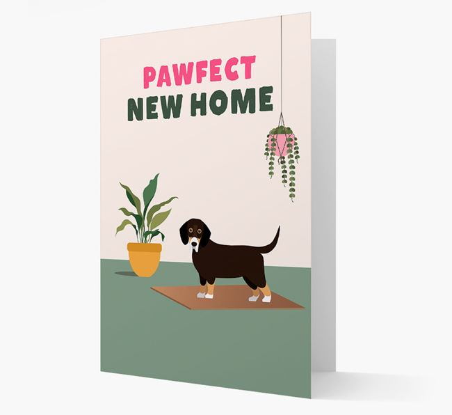 'Pawfect New Home' - Personalized Bassador Card