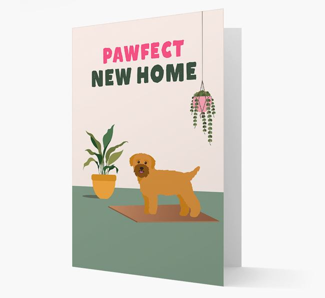 'Pawfect New Home' - Personalized Bichon Yorkie Card