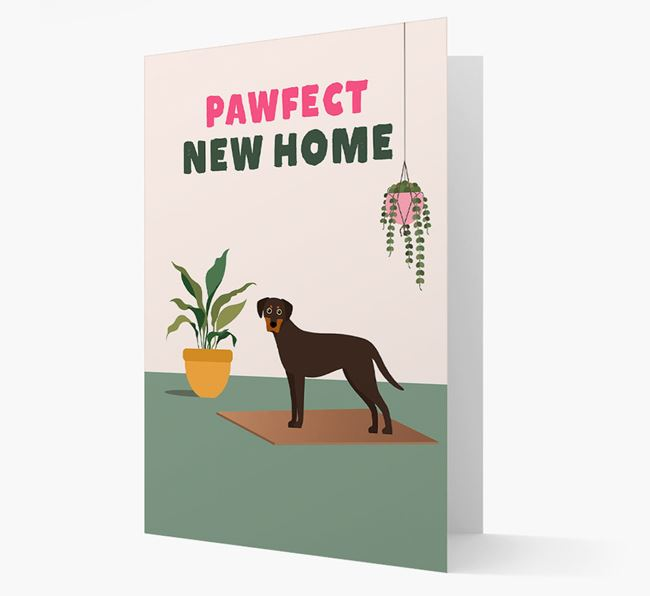 'Pawfect New Home' - Personalized Blue Lacy Card