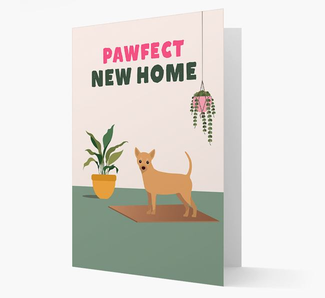 'Pawfect New Home' - Personalized Chihuahua Card