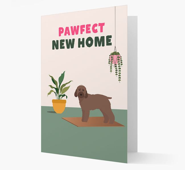'Pawfect New Home' - Personalized Cockapoo Card