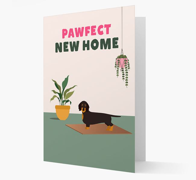 'Pawfect New Home' - Personalized Dachshund Card