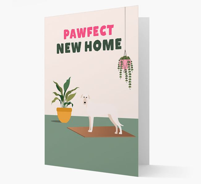 'Pawfect New Home' - Personalized Deerhound Card