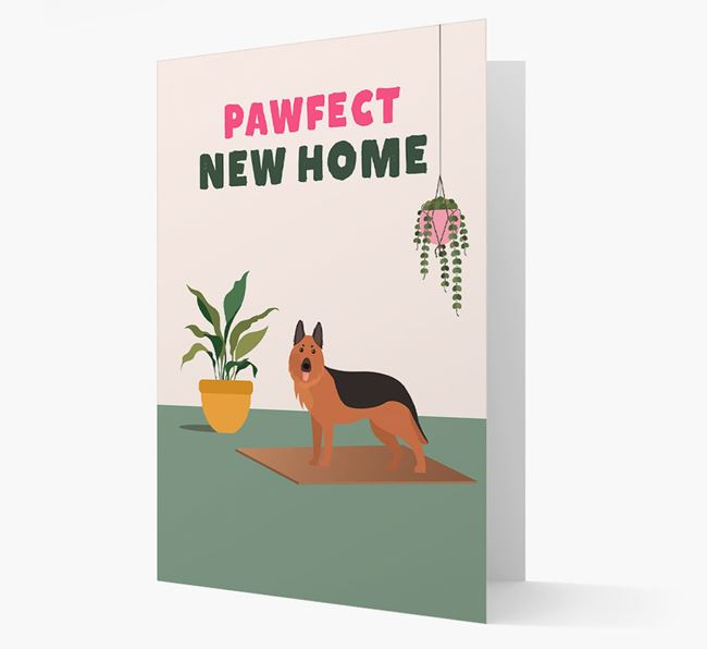 'Pawfect New Home' - Personalized German Shepherd Card