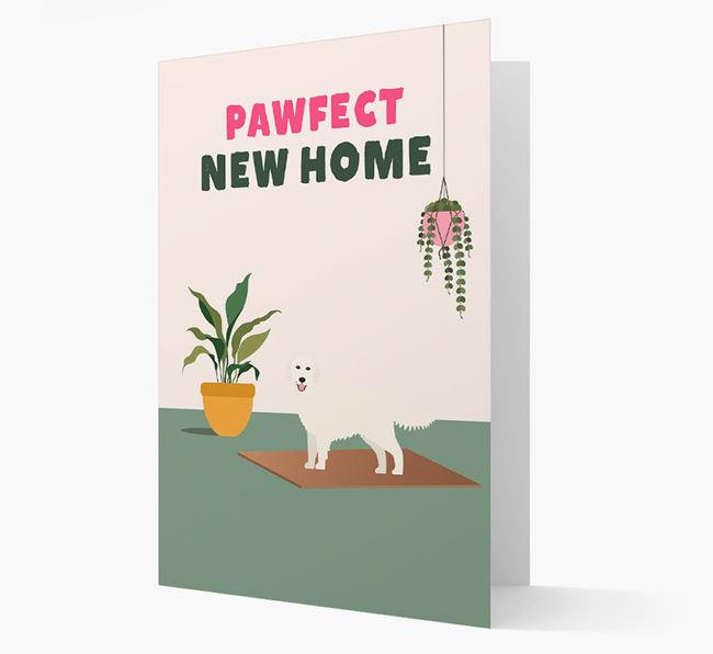 'Pawfect New Home' - Personalized Golden Retriever Card