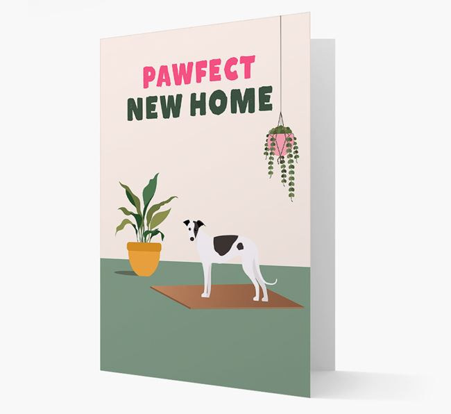 'Pawfect New Home' - Personalized Greyhound Card