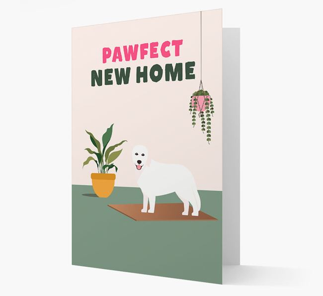 'Pawfect New Home' - Personalized Hungarian Kuvasz Card