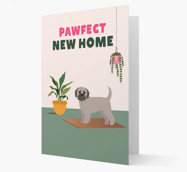 'Pawfect New Home' - Personalized Jack-A-Poo Card