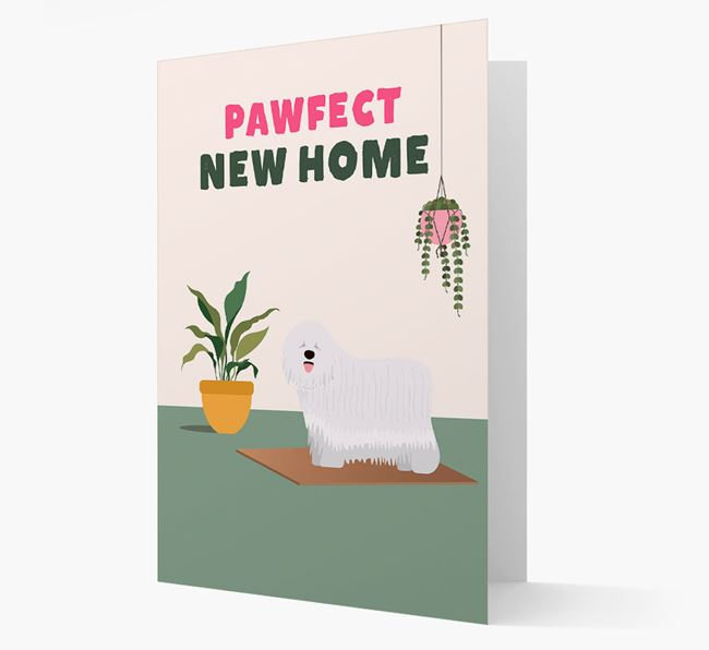 'Pawfect New Home' - Personalized Komondor Card