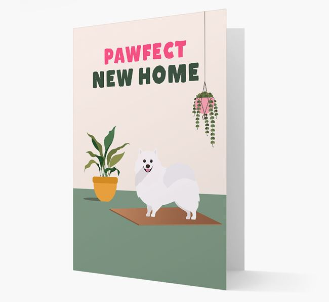 'Pawfect New Home' - Personalized Pomeranian Card