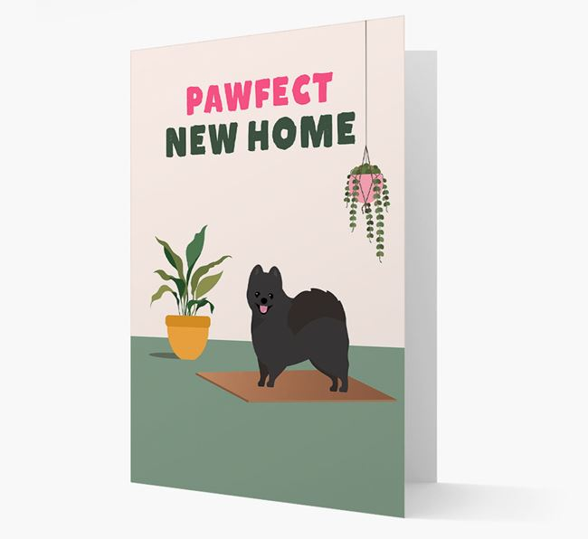 'Pawfect New Home' - Personalised Pomeranian Card