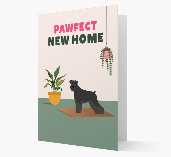 'Pawfect New Home' - Personalised Schnauzer Card