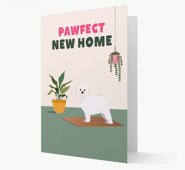 'Pawfect New Home' - Personalized Shih Tzu Card