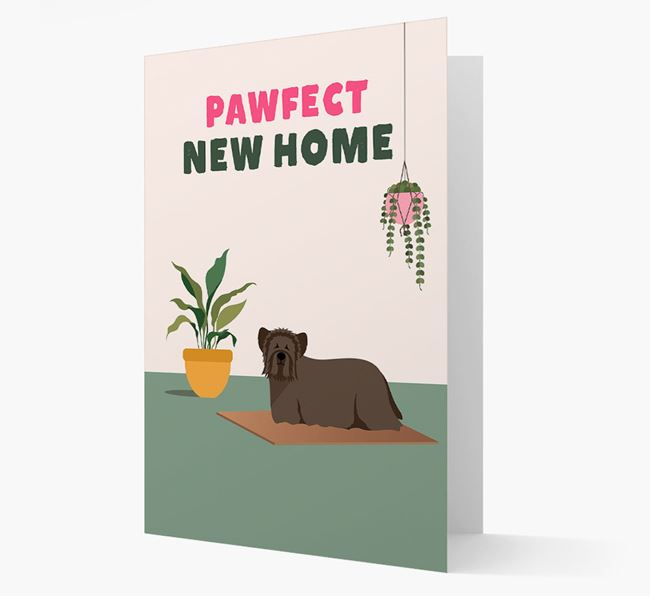 'Pawfect New Home' - Personalized Skye Terrier Card