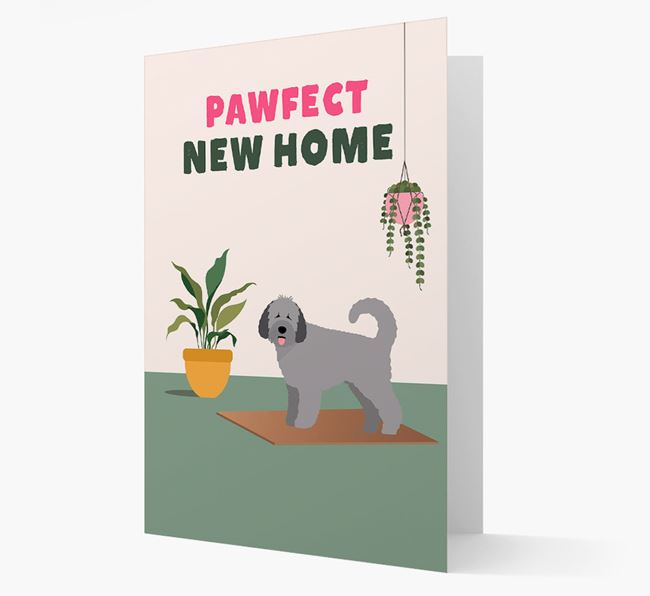 'Pawfect New Home' - Personalized Spanish Water Dog Card