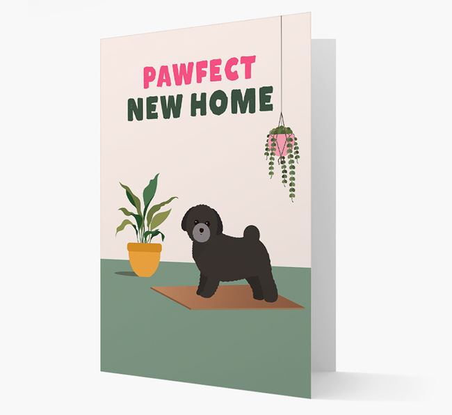 'Pawfect New Home' - Personalized Toy Poodle Card