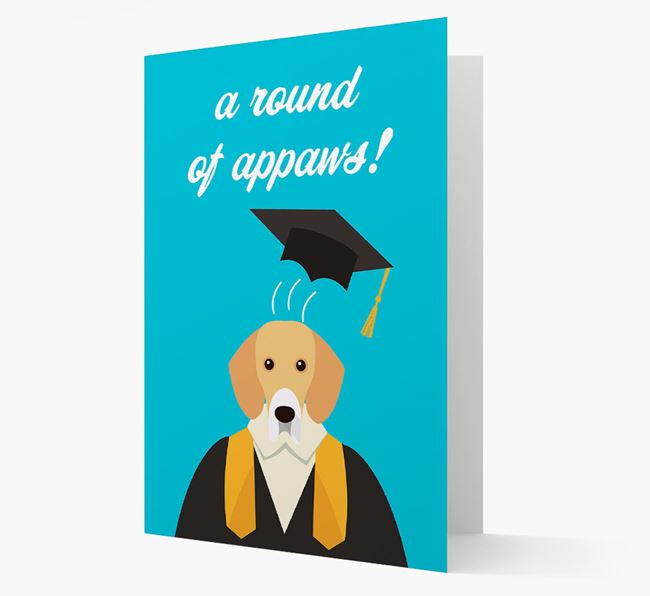 'A Round of Appaws!' - Personalized Bassador Card